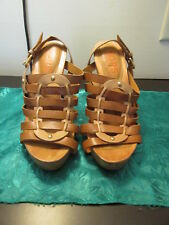 Michael Kors 7M Tall Heel Sandals With Leather Uppers
