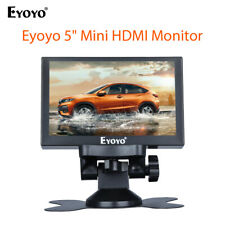 """Eyoyo 5"""" Mini Coche Monitor 800x480 admiten VGA HDMI Audio Video Bnc Para Coche fotografiado"""