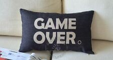 Novelty Funny Game Over words Pattern cushion cover shell Rectangle pillow case