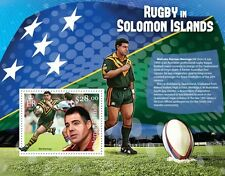 SOLOMON IS 2013 RUGBY in Solomon Islands Perforated S/Sheet MAL MENINGA MNH