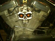 chopper bobber harley custom  skull coil cover