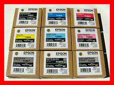 9 Genuine Epson Pro 3800 Printer Ink (2014) T5801 T5803 T5804 T5806 T5807 T5809