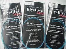 "HiyaHiya 5.0mm x 100cm (40"") Sharp Steel Circular Knitting Needles"