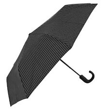 Fulton Chelsea paraguas - City rayas Negro/acero