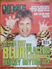 NME 27/6/98 Blur cover, Placebo, Bentley Rhythm Ace, Tibetan Freedom Concert