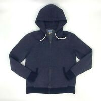 J. Crew Vintage Fleece Sweater Dark Blue Men's Size M Full Zip Hoodie Jacket