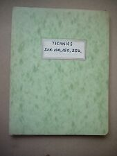 Technics SXK 100, 150, 250 Electronic Keyboard Service Manual