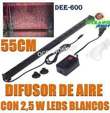 DIFUSOR 55CM CORTINA AIRE 19 LED BLANCOS 2,5W SUMERGIBLE ACUARIO PECERA PANTALLA