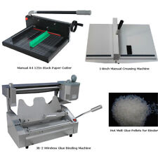 Glue Binding Machine+Rubber Pellets+Crease Machine+Paper Cutter Office Supplies
