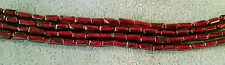 "Garnet Natural Dk Red Gemstone Tube Bead Strand 3x6mm -14-14.5"" Strand-BARGAIN!"