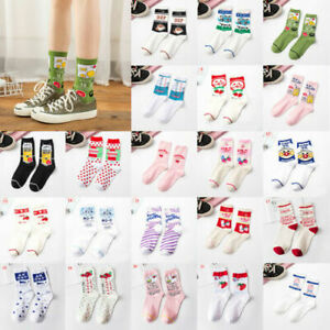 Womens Girls Korean Socks Japanese Harajuku Funny Kawaii Socks Lovely Fruit Milk