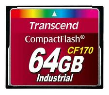 64GB Transcend CF 170 X tarjeta de memoria CompactFlash Industrial velocidad