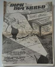 DICK DETERRED - 1982 PROGRAM - WILLIAM REDFIELD THEATRE, Off-Broadway, NYC