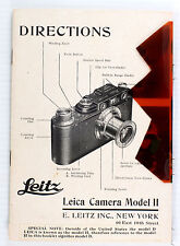 Orig. Leitz Instructions for Leica IIIa, May 1941, 32 pages