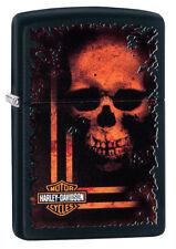 ZIPPO Benzin Feuerzeug Harley Davidson ® Orange Skull 60003929 NEUHEIT 2018
