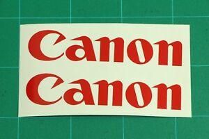 Canon Logo Decal Vinyl Sticker Camera Camcorder Photography  DSLR Photo EOS Lens