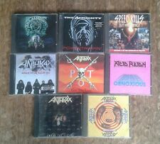 collection of heavy metal CDs. Anthrax, The Almighty, Acid Reign, Speed kills...