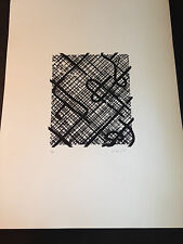 """Ed Moses """"Rico Trac"""" Original Lithograph, Hand Signed, Numbered, Limited Edition"""