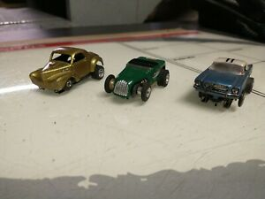 Aurora thunderjet vintage slot car lot Ford mustang Willy's and old hot rod