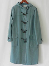 Avignon Duffle Coat 100% Wool Light Blue Hodded Size L/XL