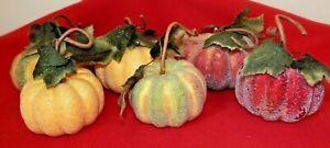 Artificial Faux Squash Gourds Autumn Fall Thanksgiving Harvest Decor 6 Pieces