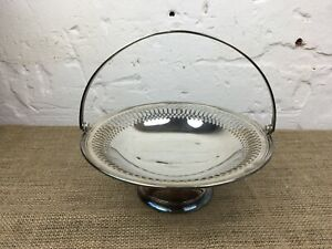 ANTIQUE SILVER PLATE W M GREENWOOD & SONS SHEFFIELD HANDLED FRUIT BOWL DISH
