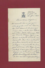 Lettera Autografa G. D'Adda Savaterra Milano Ordine SS. Maurizio e Lazzaro 1877