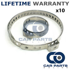 CAR ATV FITS 99% OF VEHICLES CV BOOT STAINLESS STEEL CLAMPS PAIR X 10
