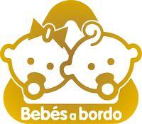 Sticker Vinilo - BEBES A BORDO - Escoge color y tamaño -Pegatina - Decal - Vinyl
