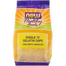 Solo 0 Tapas de gelatina, 1000 cápsulas vacías, Now Foods