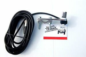 Flat Bar Mirror Mount Kit with 4m cable for 3/8 springer CB Radio Antenna aerial