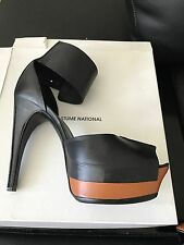 COSTUME NATIONAL PUMPS HEELS SHOES FORESTA BICOLOR 40 BOX TAG