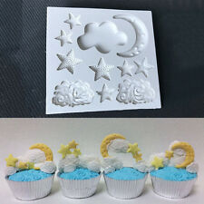Moon Star Cloud Silicone Fondant Cake Mould Chocolate Baking Decorating Mold DIY