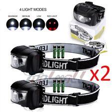 2x 500LM LED Ultra Bright Headlamp Headlight Flashlight Head Torch+AAA Battery