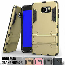 Galaxy S5 S6 Edge Note 5 Case, Iron Man Armor TPU Stand Cover For Samsung