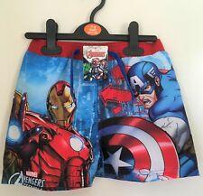 New Marvel Avengers Assemble Boys Swimming Trunks Shorts - Official - 7/8Y