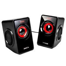 Altavoces Gaming para PC MARS GAMING MS1 10W Canales 2.0 Color Negro y Rojo