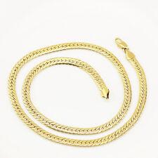 Gioielli da uomo 18 K Oro Placcato Collana per Uomo o Donna Catena Larghezza 5 mm N295