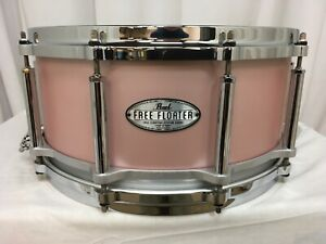 """Pearl Free Floating 14"""" Dia. X 6.5"""" Deep Snare Drum/Satin Rose Gold/#844/New"""