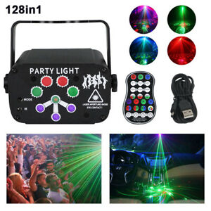Stage Light With 128 Patterns Sound RGB Party Disco Dance Lighting Active Laser