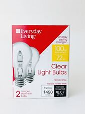 Everyday Living Energy Saving Halogen Clear Light Bulbs Pack Of 2