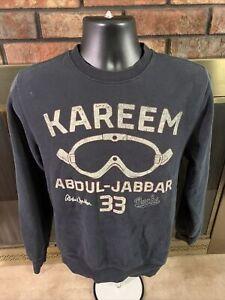 Milwaukee Bucks NBA Basketball Crewneck Sweatshirt Men Medium Kareem Abdul Jabar