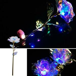 24K Gold Foil Rose Flower LED Luminous Galaxy Mother's Day Valentine's Y