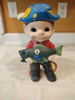 Vintage Porcelain Figurine Sailor Boy Fish First Place