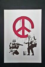 Banksy - Peace Soldiers - Litografia con foto autenticità