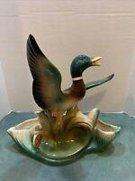 Vntg TV Lamp/Planter Mallard Duck in Flight Lane & Co Van Nuys CA 1954-56 #341