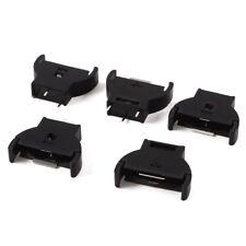 5 Pcs Black Plastic CR2032 Cell Button Lithium Battery Sockets Holder WS D6M2