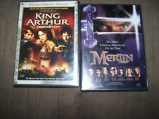 Merlin & King Arthur directors cut extended & unrated!!! DVDS IN EXCELLENT SHAPE