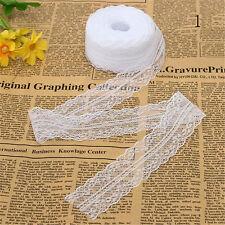 10M/Roll Black/White Beautiful Handicraft Embroidered Net Lace Trim Ribbon Decor