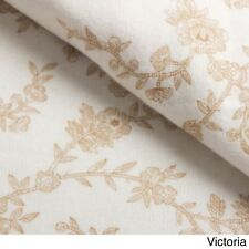 Laura Ashley 4-pc 100-% cotton  Soft Flannel Sheet Set Queen Victoria